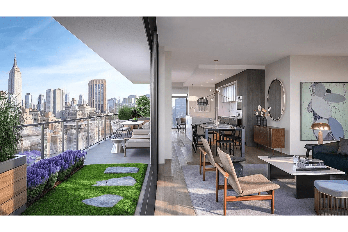 luxury NYC balcony with a view