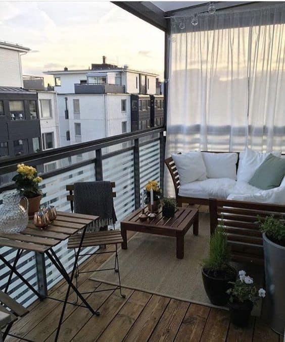 apartment balcony curtains