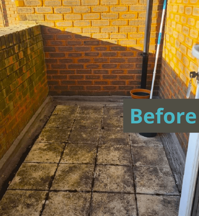 balcony makeover before and after