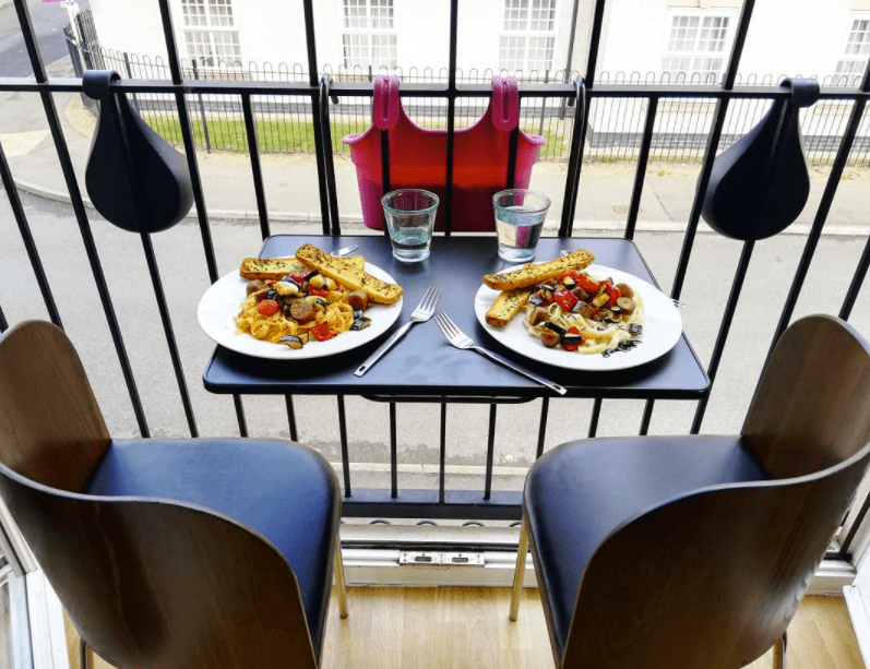 juliet balcony dining