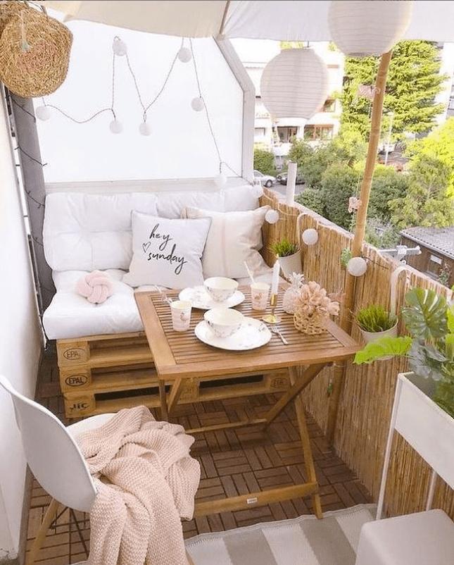 bamboo balcony railing cover