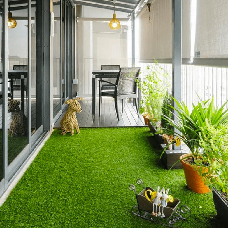 artificial grass ideas for balcony