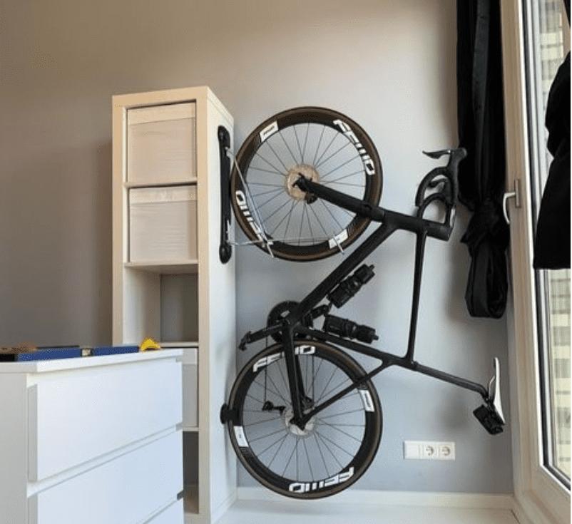 bike mounted on furniture