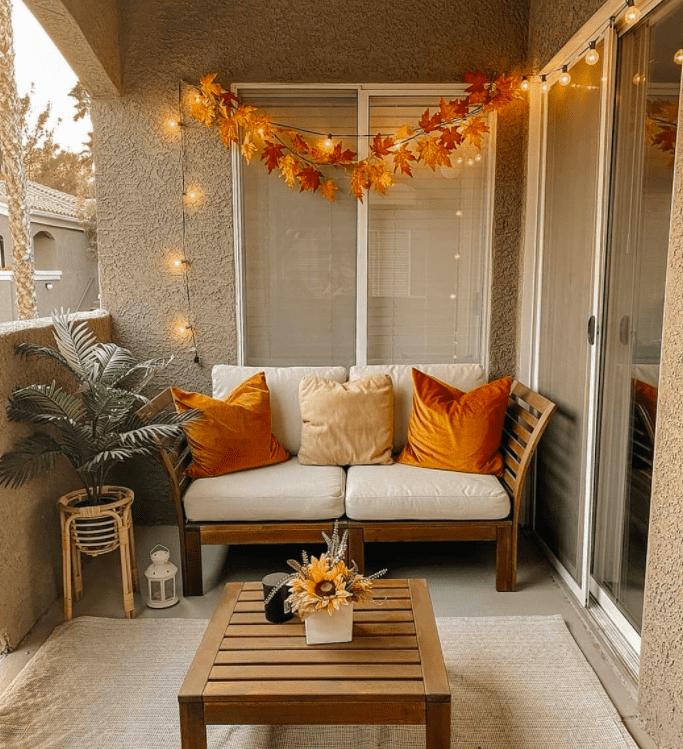 fall balcony decor