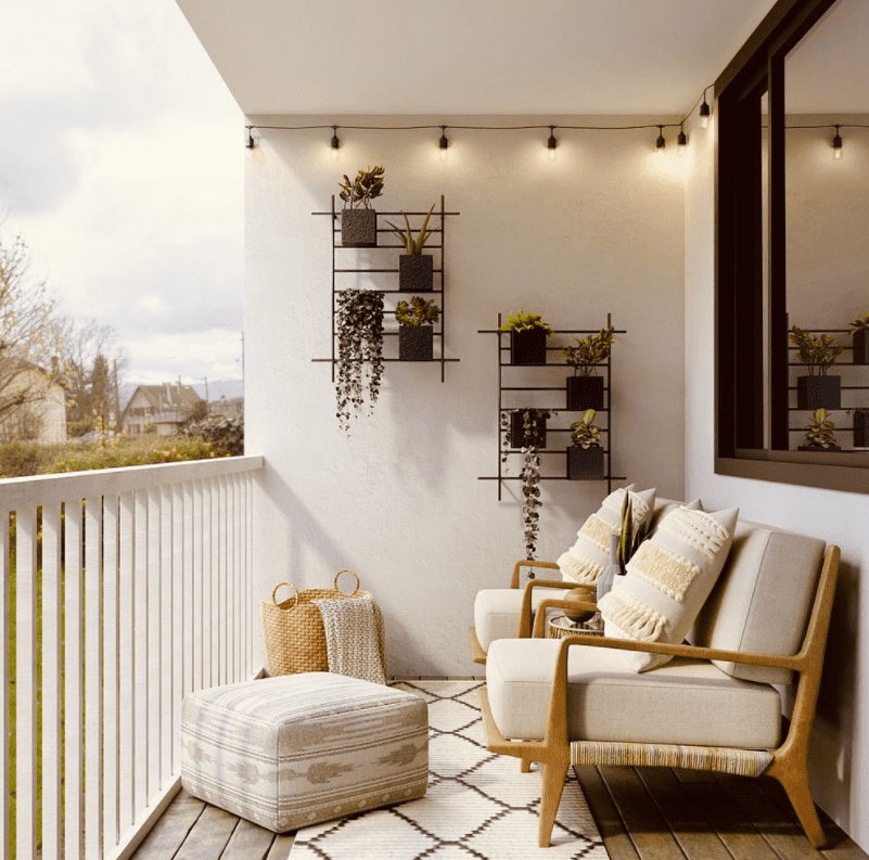 wall shelves for balcony