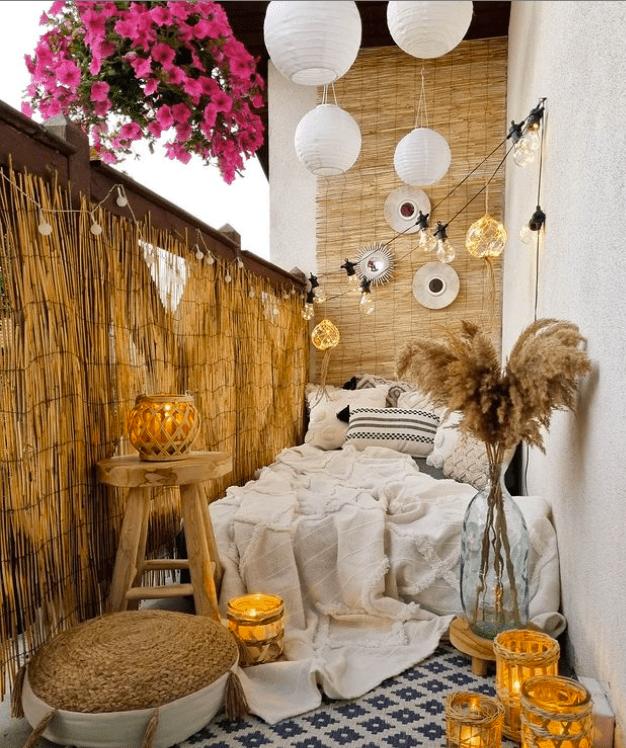 bamboo balcony wall decor