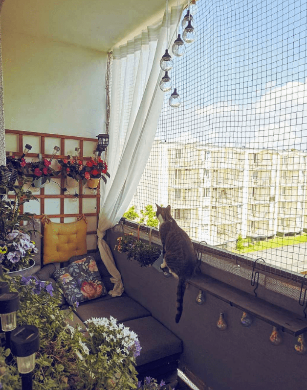 balcony netting for cats