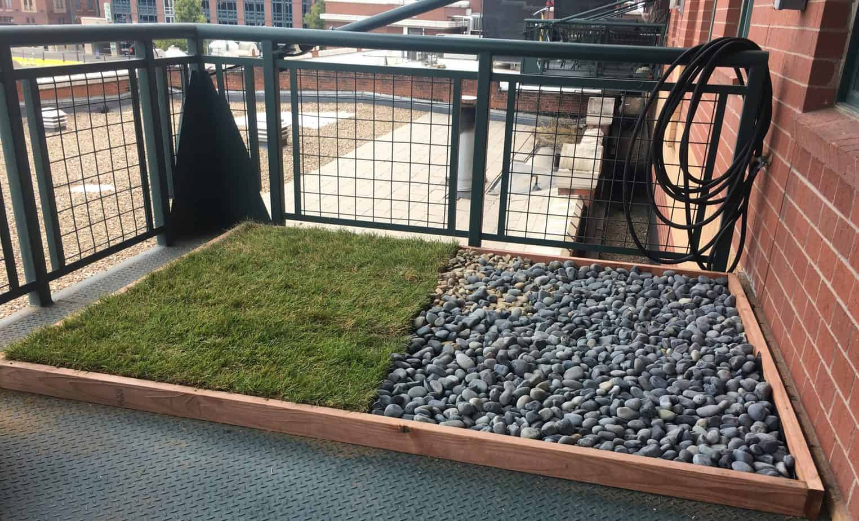 Outdoor DIY Balcony Dog Potty