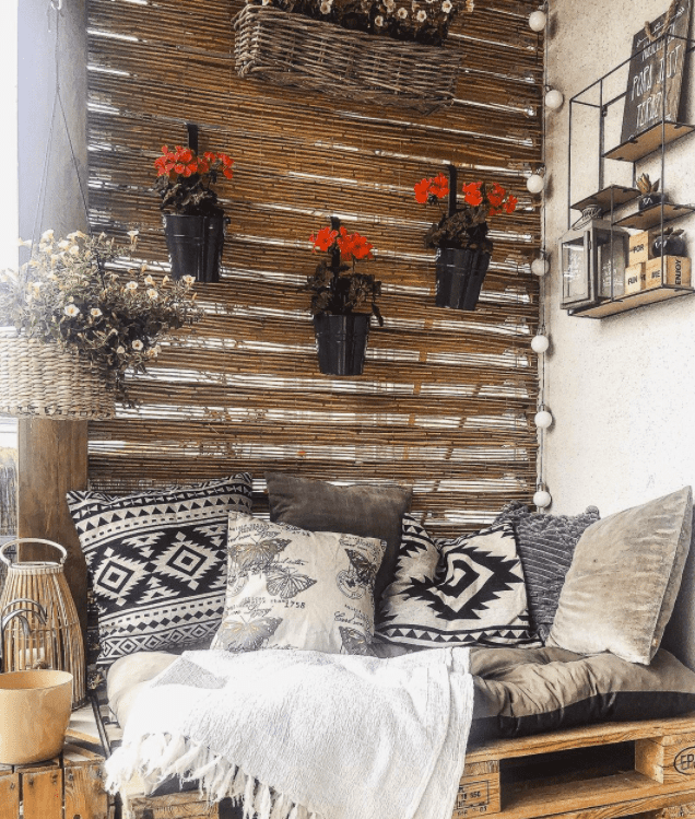 bamboo fence balcony divider