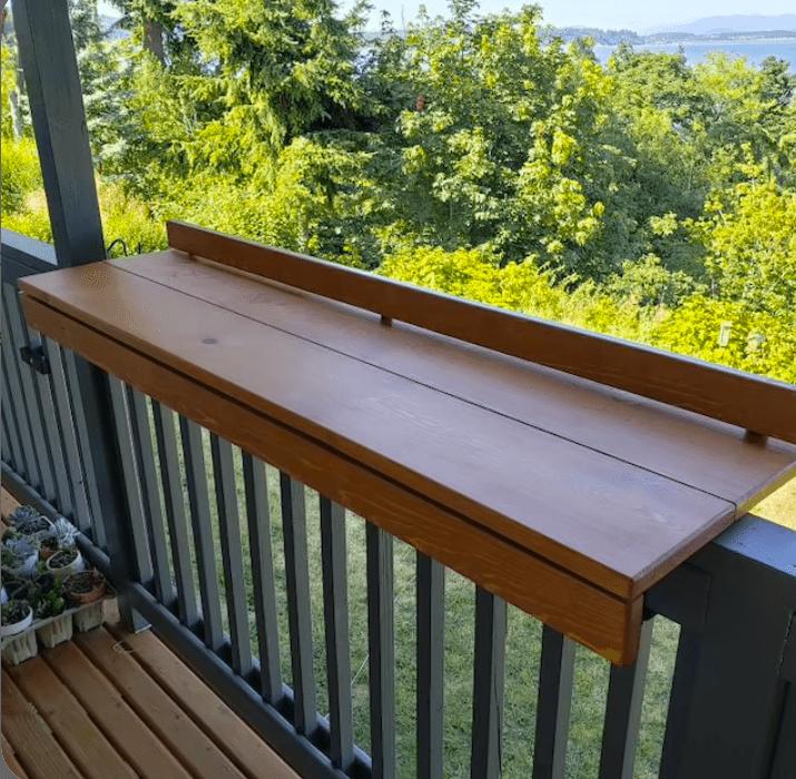 DIY balcony bar