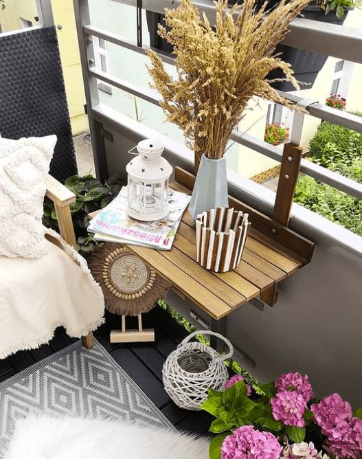 DIY folding balcony bar