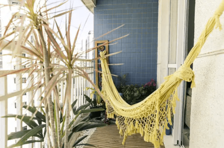 balcony rope hammock